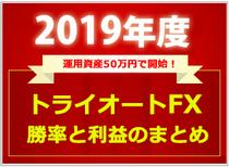 2019年度のトライオートFXの勝率と利益のまとめ