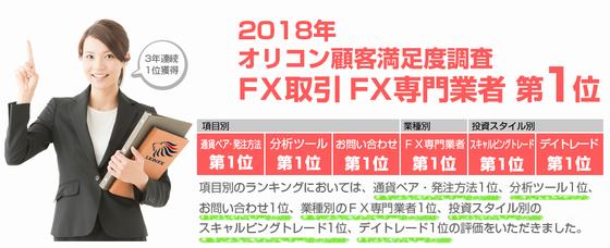 LION FX は、顧客満足度が高い!